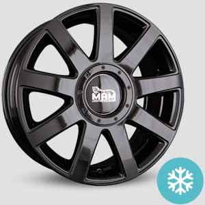 jantes mam a1 finition winter proof hiver black painted
