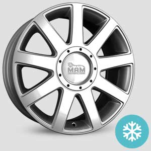 jantes mam a1 finition winter proof hiver silver painted