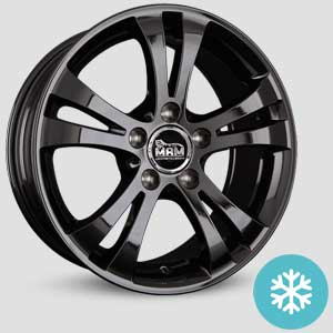jantes mam a1 finition winter proof hiver black-painted