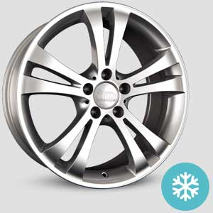 jantes mam a1 finition winter proof hiver silver-painted