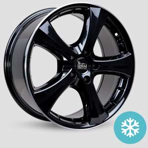 jantes mam w1n finition winter proof hiver black painted
