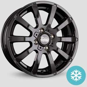 jantes mam w3 finition winter proof hiver black painted