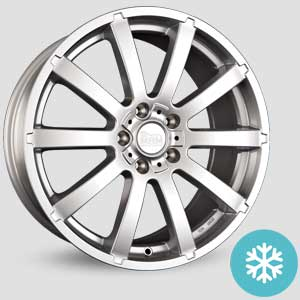 jantes mam w3 finition winter proof hiver silver painted